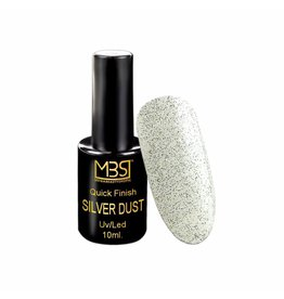 Mega Beauty Shop® Uv Quick Finish  gel 10ml zonder plaklaag (zilver dust effect)