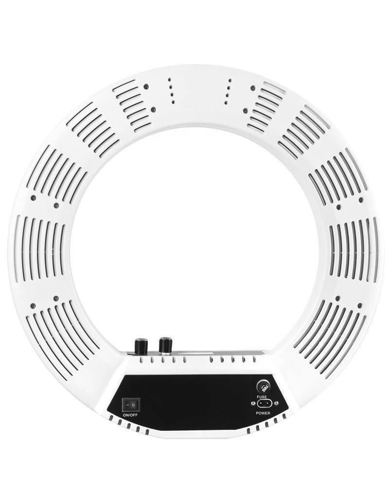 "Merkloos Ring  LED lamp + statief 48Watt 18"" /wit"