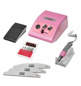 Mega Beauty Shop® Nagelfrees JD500  35Watt -Roze incl. 3 vijlen 100/180