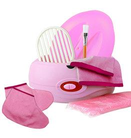 Merkloos Paraffinebad set standaard roze met extra sokken