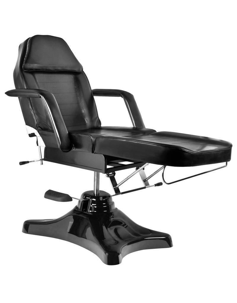 Mega Beauty Shop® Behandelstoel/Pedicurestoel Zwart met GRATIS behandelstoelhoes