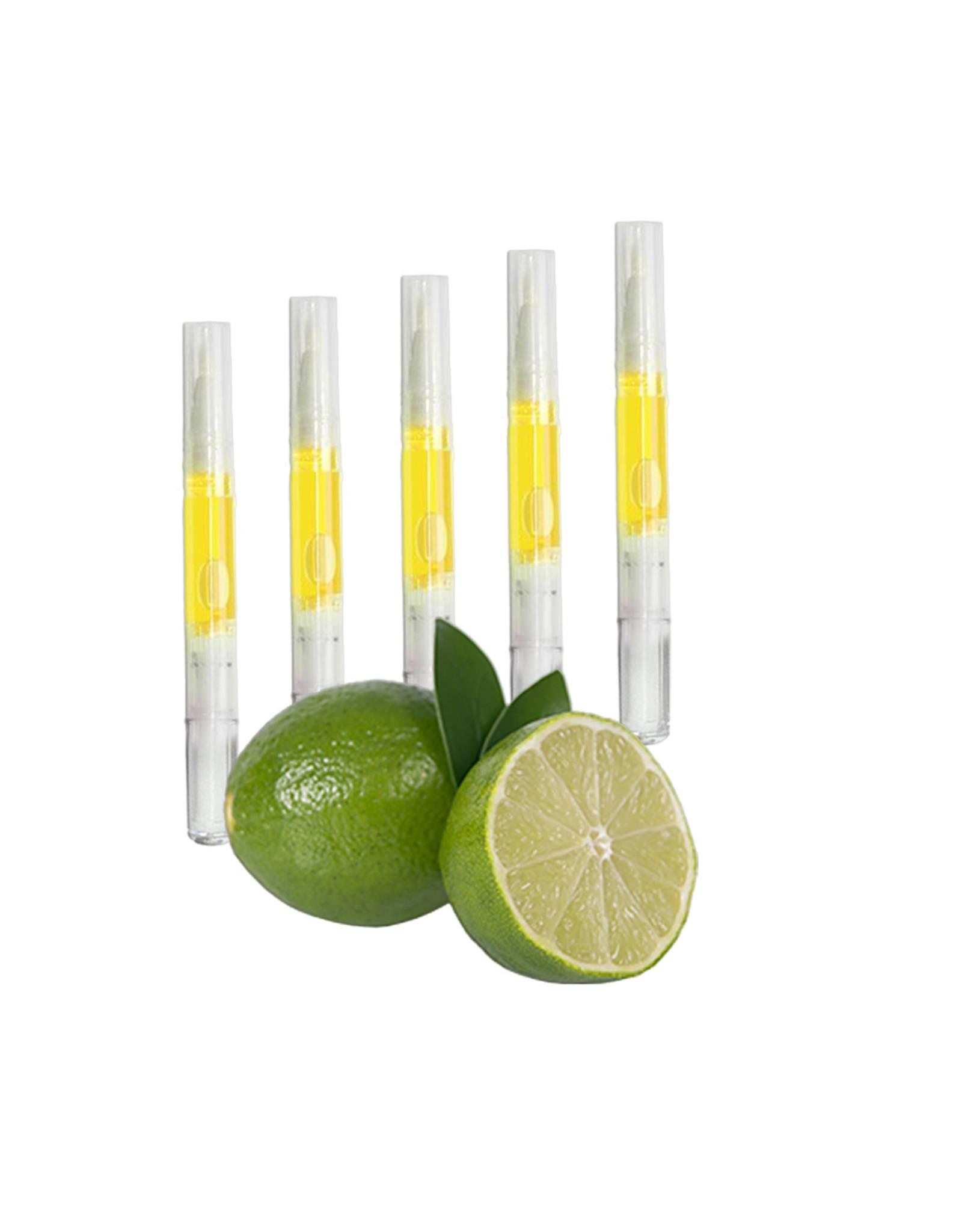 Merkloos Nagelriemolie set van 5 stuks -Limoen