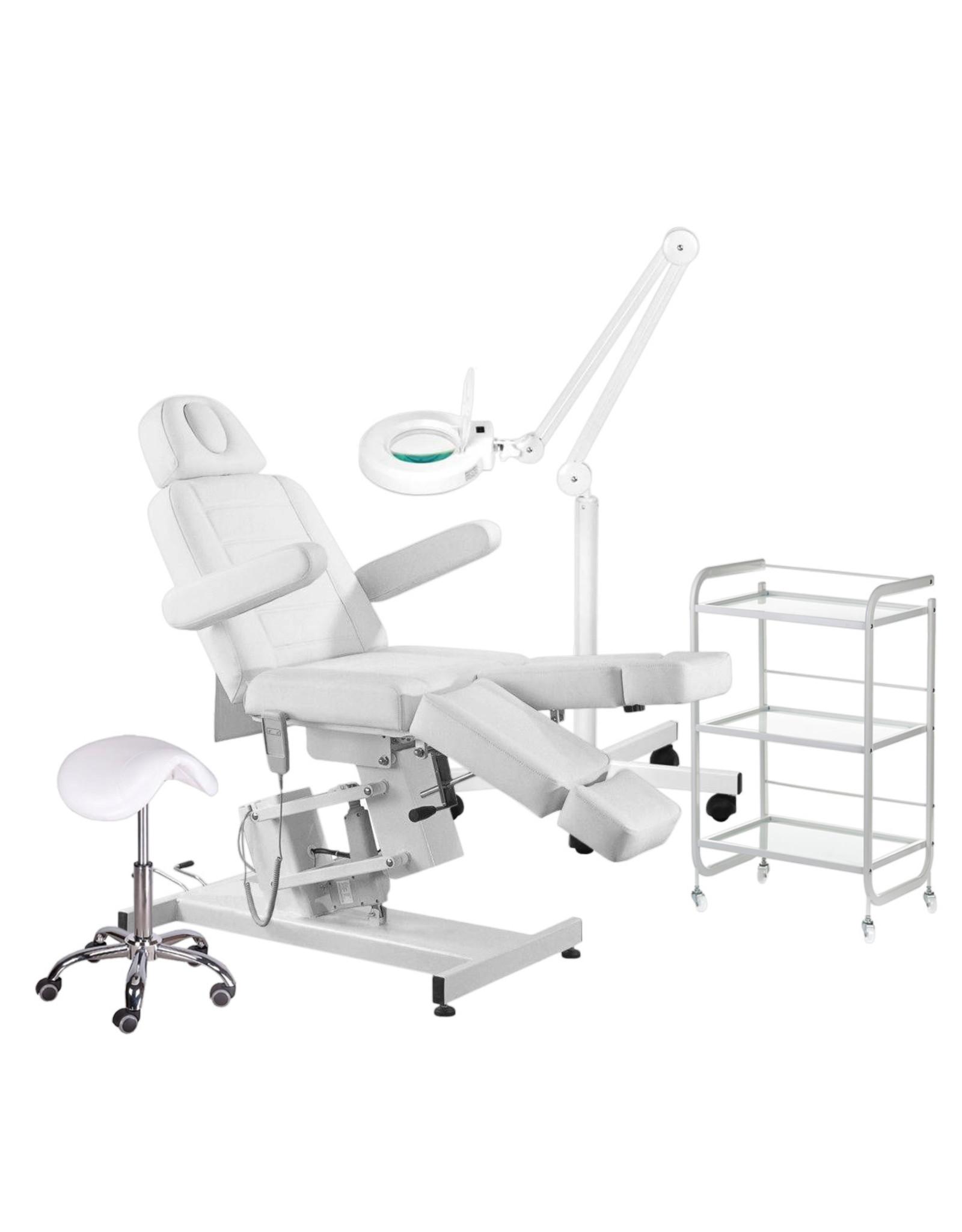 Mega Beauty Shop® 10. Behandel/pedicure starter set WIT met GRATIS behandelstoelhoes.