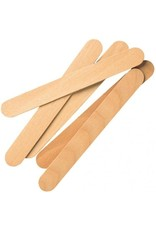 Merkloos Houten wax spatels 10stuks