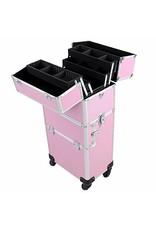 Mega Beauty Shop® Aluminium Trolley 2 in1  Roze
