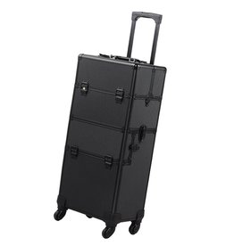 Mega Beauty Shop® Aluminium Trolley  2 in 1 Zwart