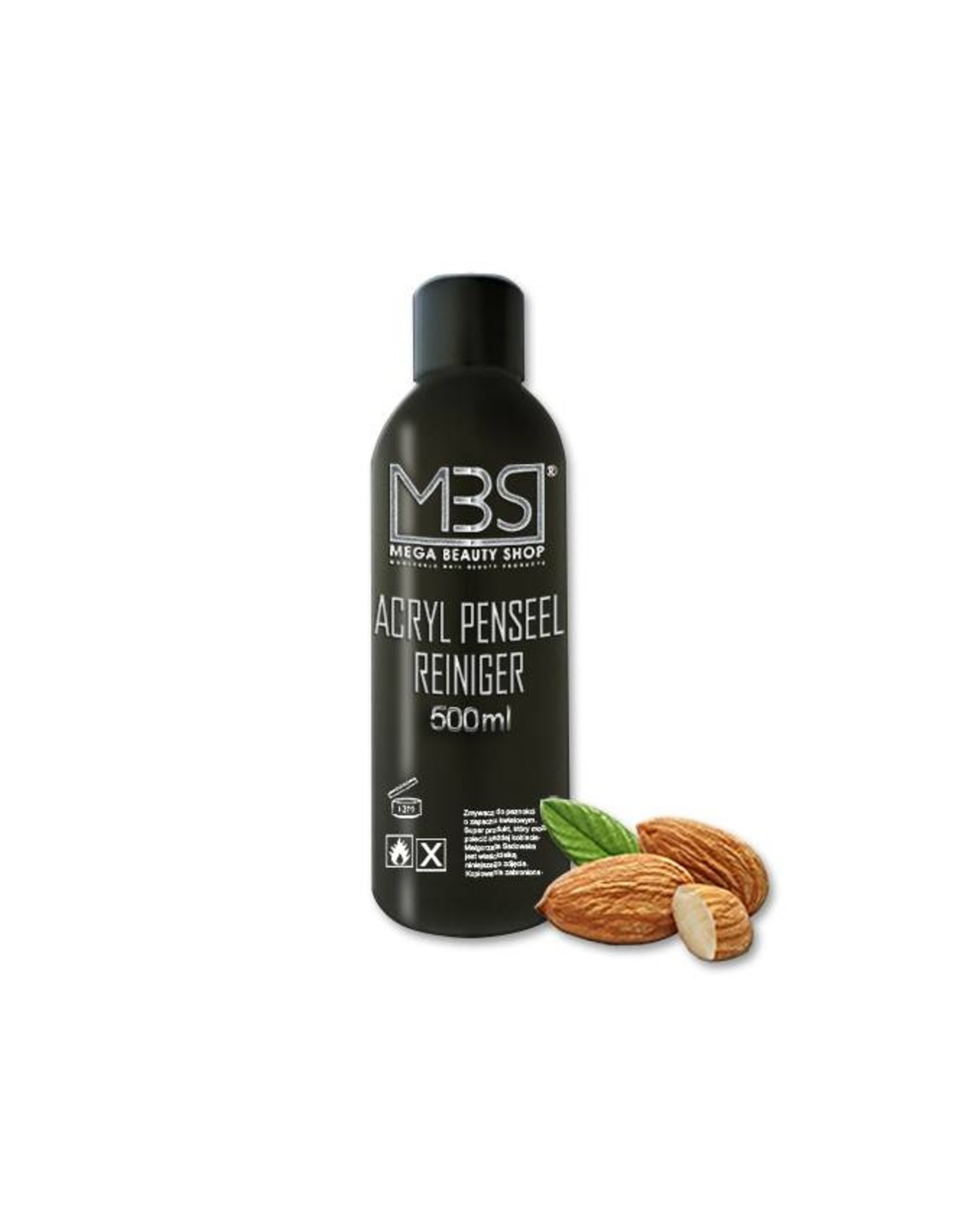 Mega Beauty Shop® Acryl penseelreiniger (500 ml)    met amandelgeur