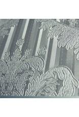 Merkloos Koffer groot  Zilver Bloem