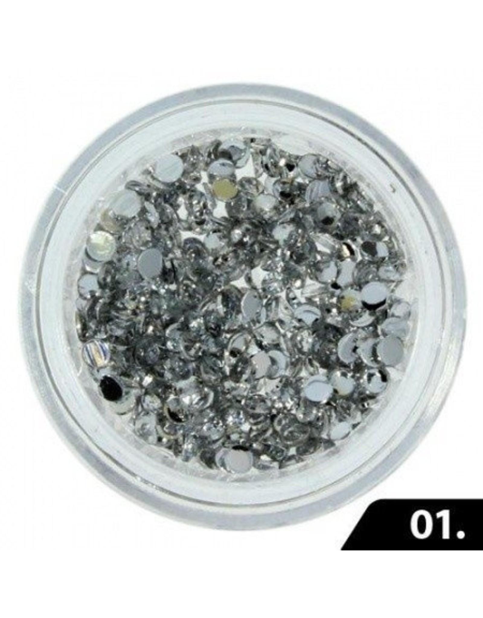 Merkloos Nailart Glas Steentjes 2 mm
