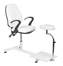 Merkloos Behandelstoel/Pedicurestoel Wit
