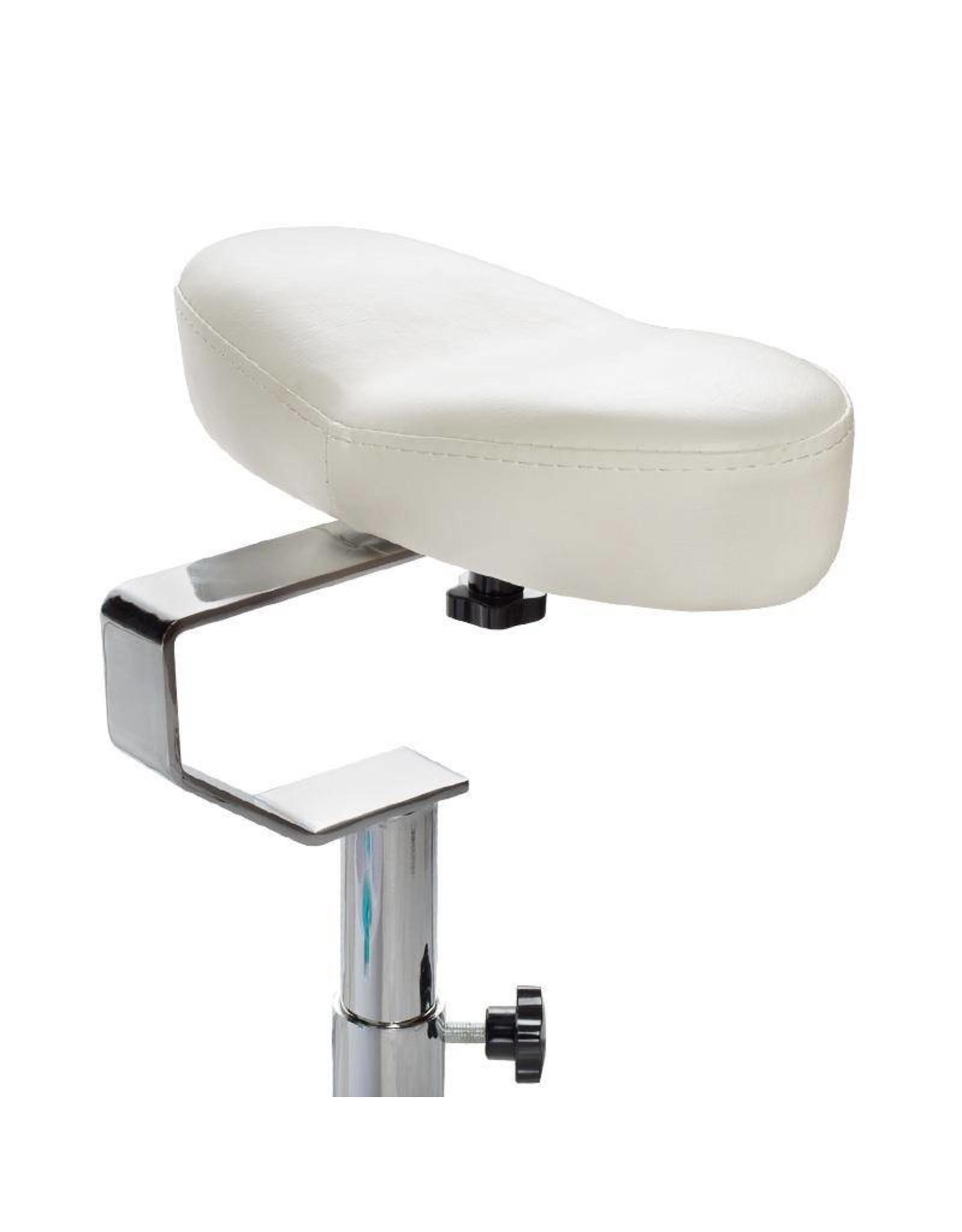 Merkloos Pedicurestoel SPA incl. voetenbad Zilver/Wit
