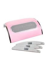 Mega Beauty Shop® Stofafzuiger met 3 motoren Roze  incl. 3 MBS® trapeze vijlen