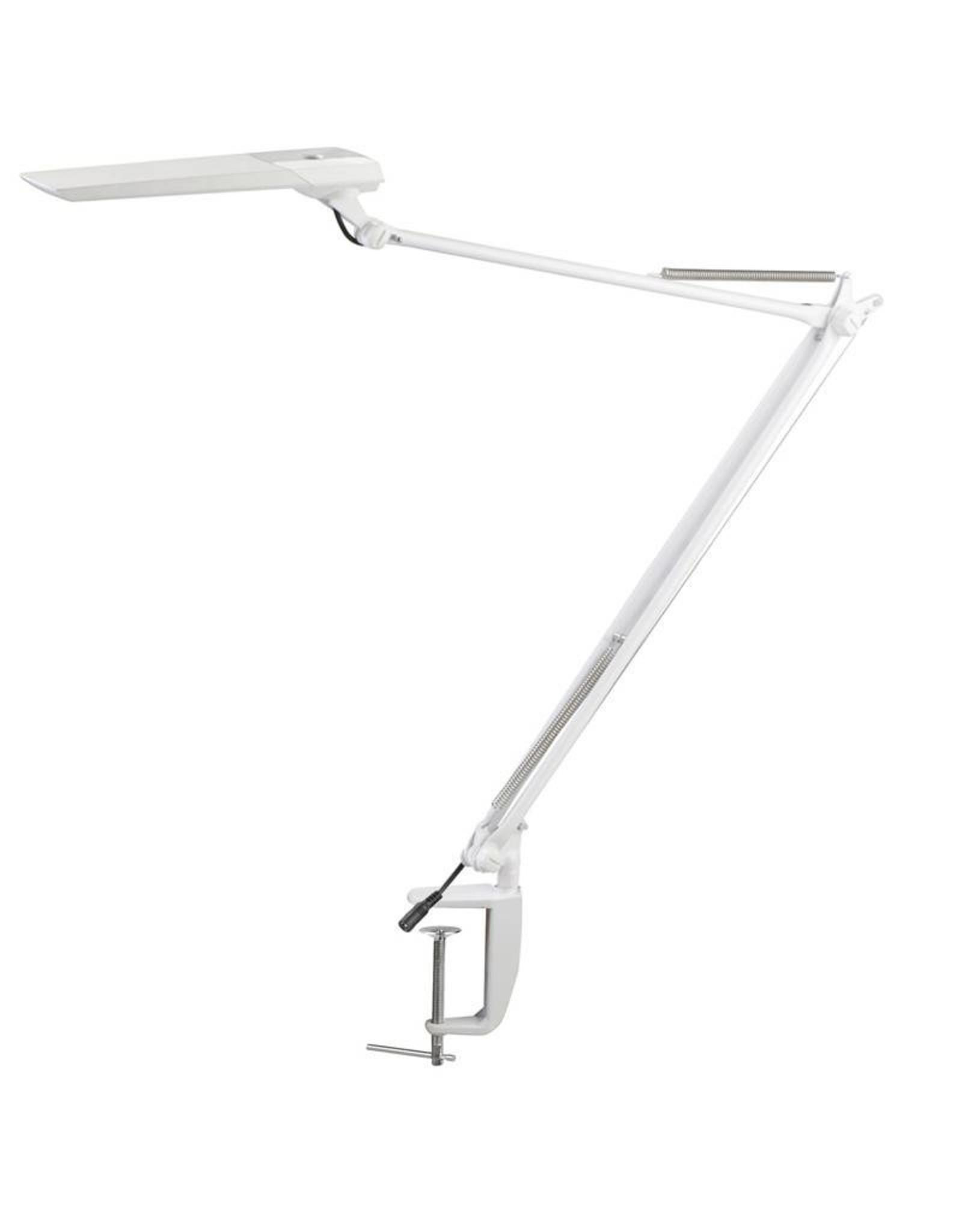 Merkloos Tafellamp LED Wit met tafelklem en een sensor