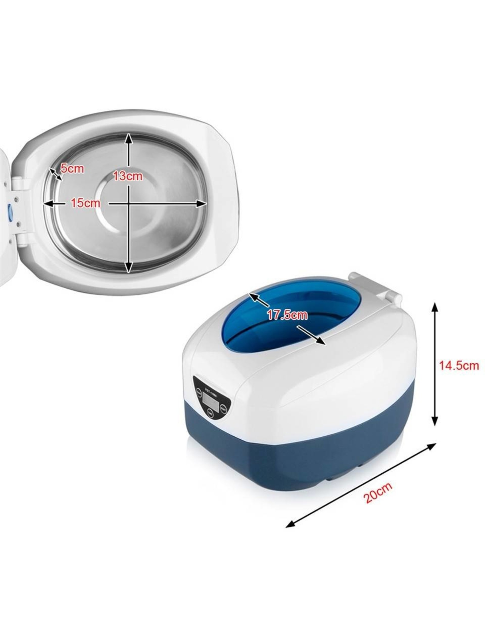 Mega Beauty Shop® Ultrasoon-reiniger VGT1000