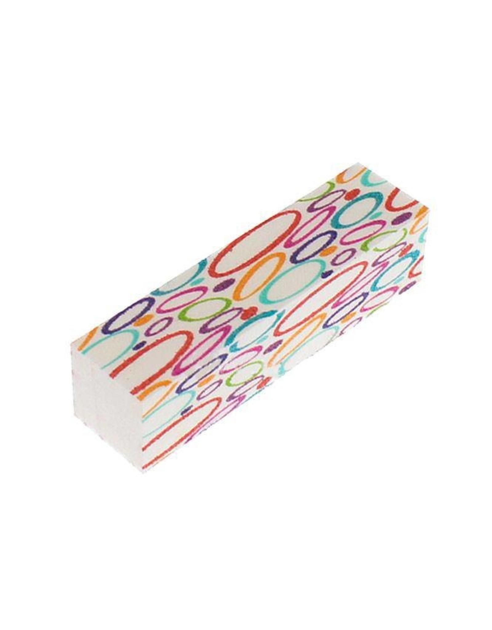 Merkloos Nagel polijstblok multicolor
