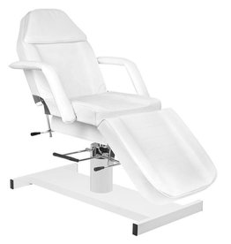 Mega Beauty Shop® Behandelstoel/Pedicurestoel wit