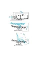Merkloos Elektrische Behandelstoel Grijs (3 motoren)