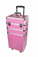 Mega Beauty Shop® Aluminium trolley Roze