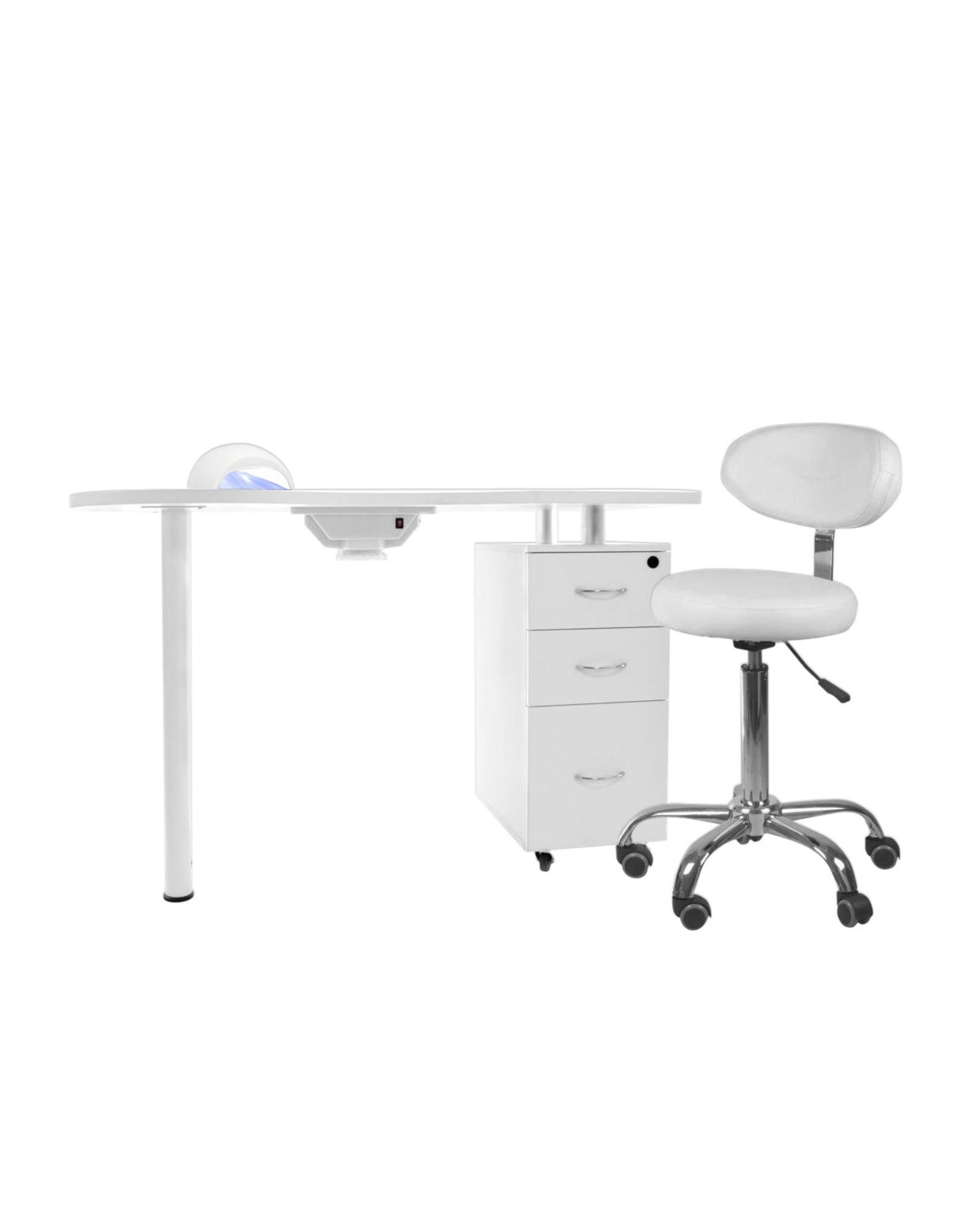 Mega Beauty Shop® Manicuretafel + Werkstoel incl. Sun5 UV/LED lamp (02)