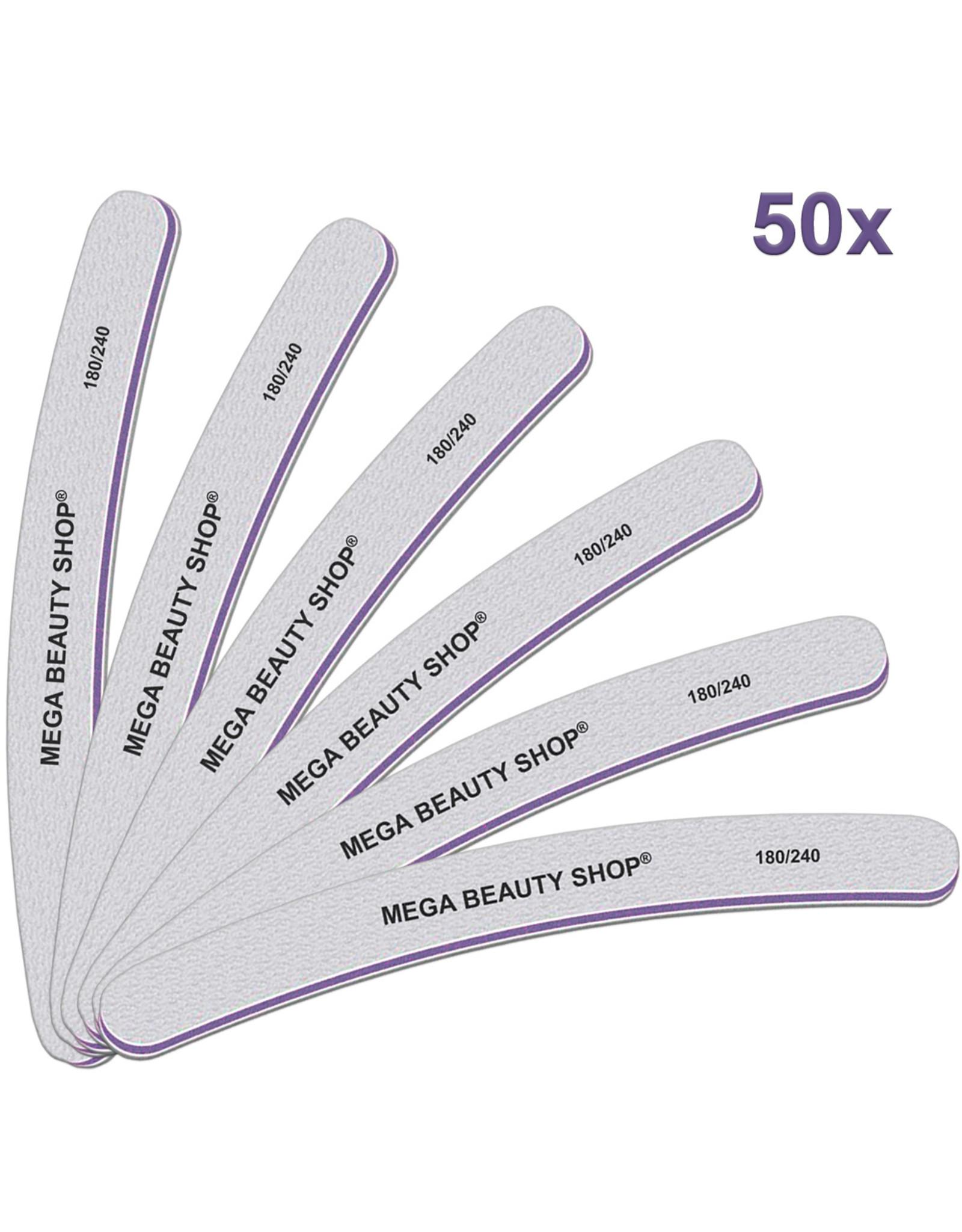 Mega Beauty Shop® PRO  Banana  vijlen zebra  180/240   50st.