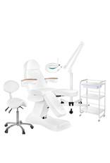 Mega Beauty Shop® 15. Behandel/pedicure starter set WIT met GRATIS behandelstoelhoes.