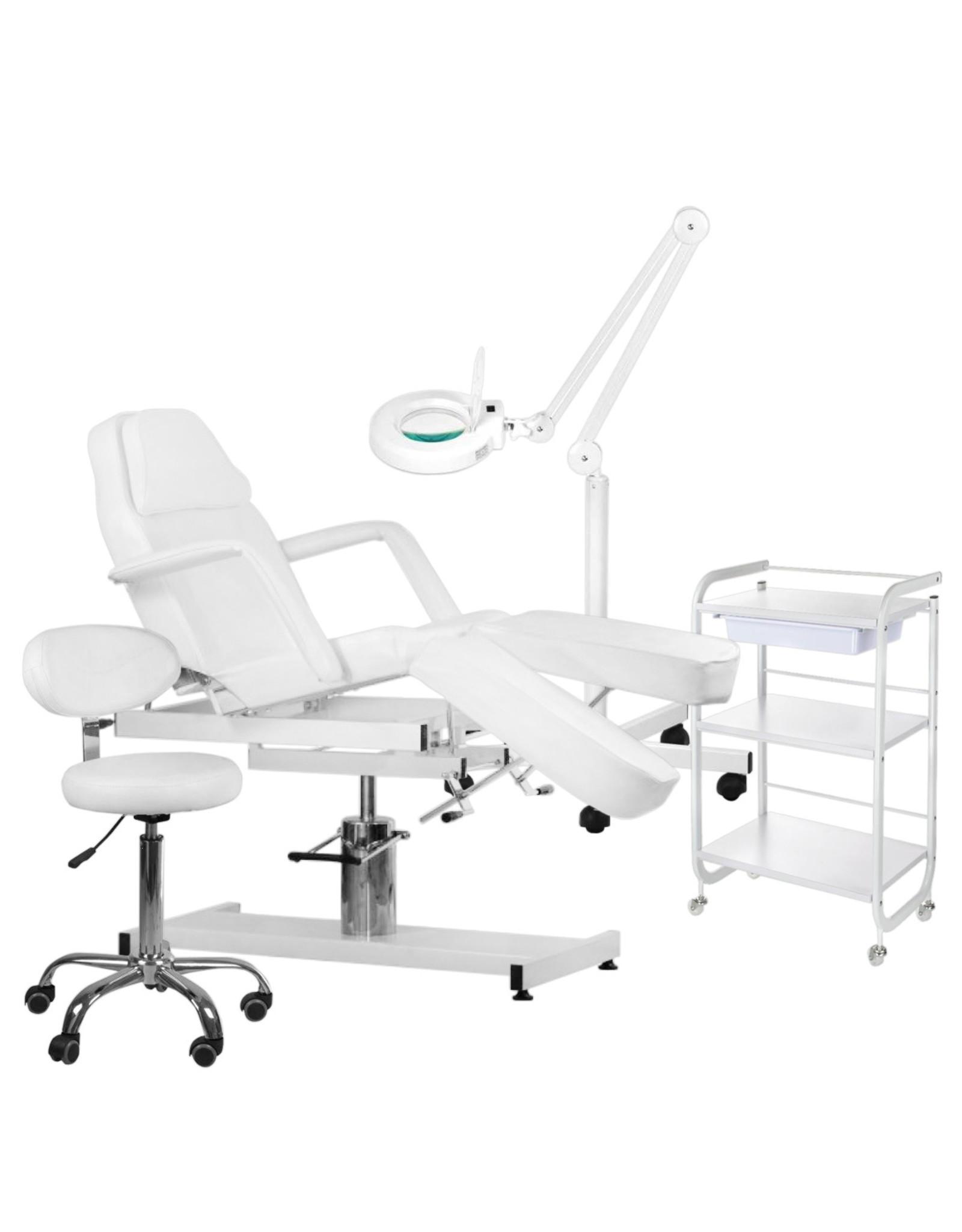 Mega Beauty Shop® 5. Behandel/pedicure starter set WIT met GRATIS behandelstoelhoes.
