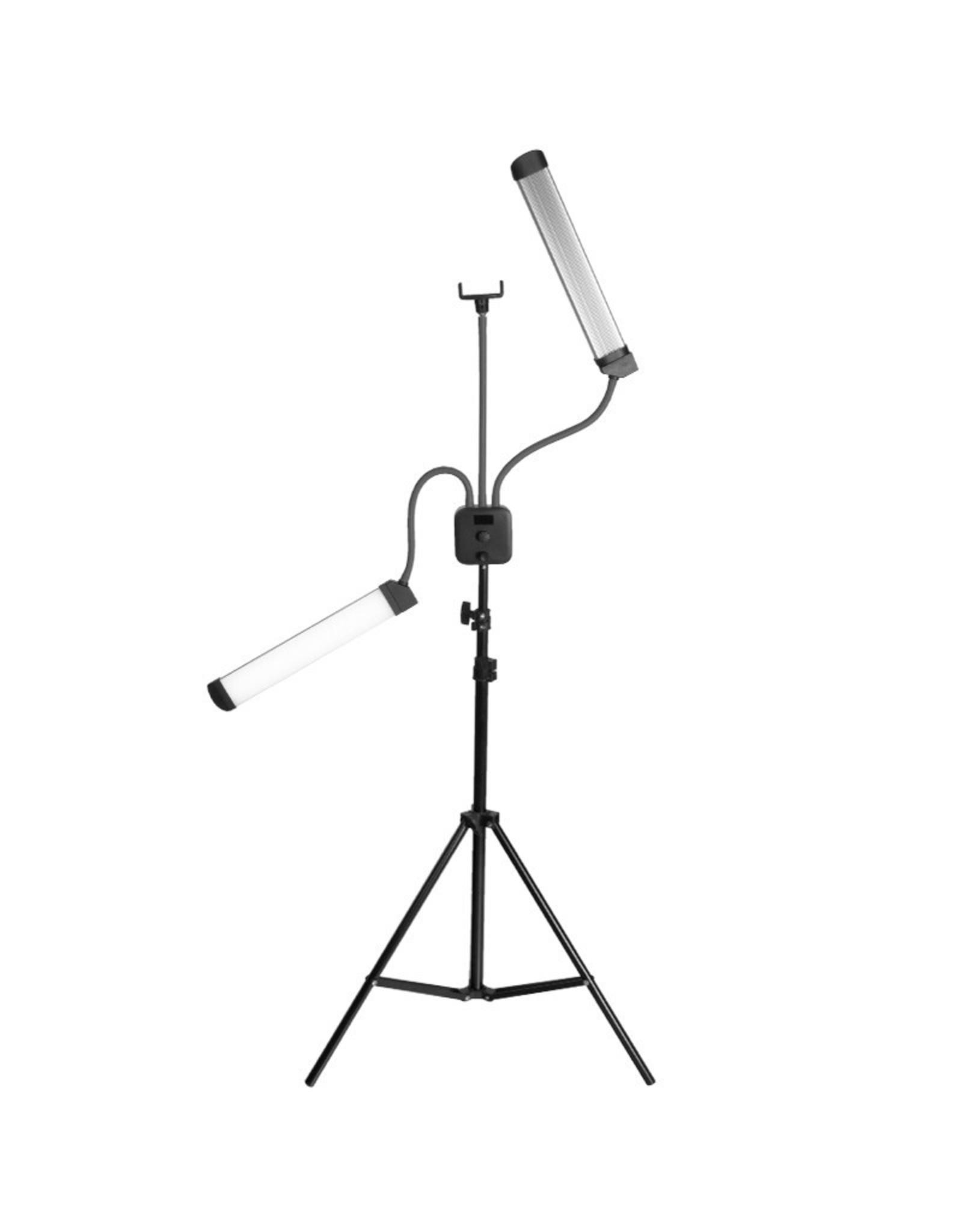 Mega Beauty Shop® LED Lamp voor wimpers en make-up  met telefoonhouder