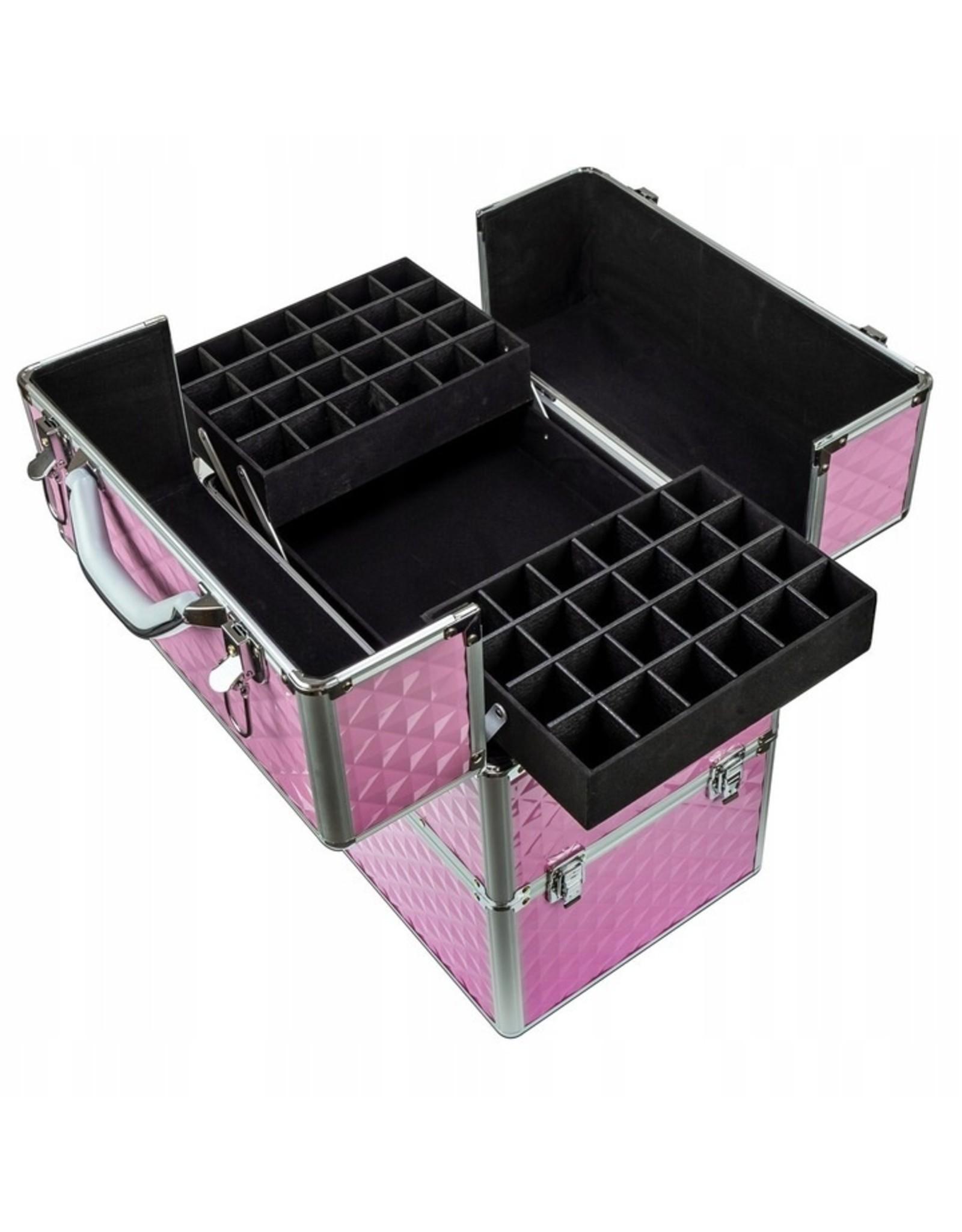 Mega Beauty Shop® Koffer groot 3D roze met opbergvakken