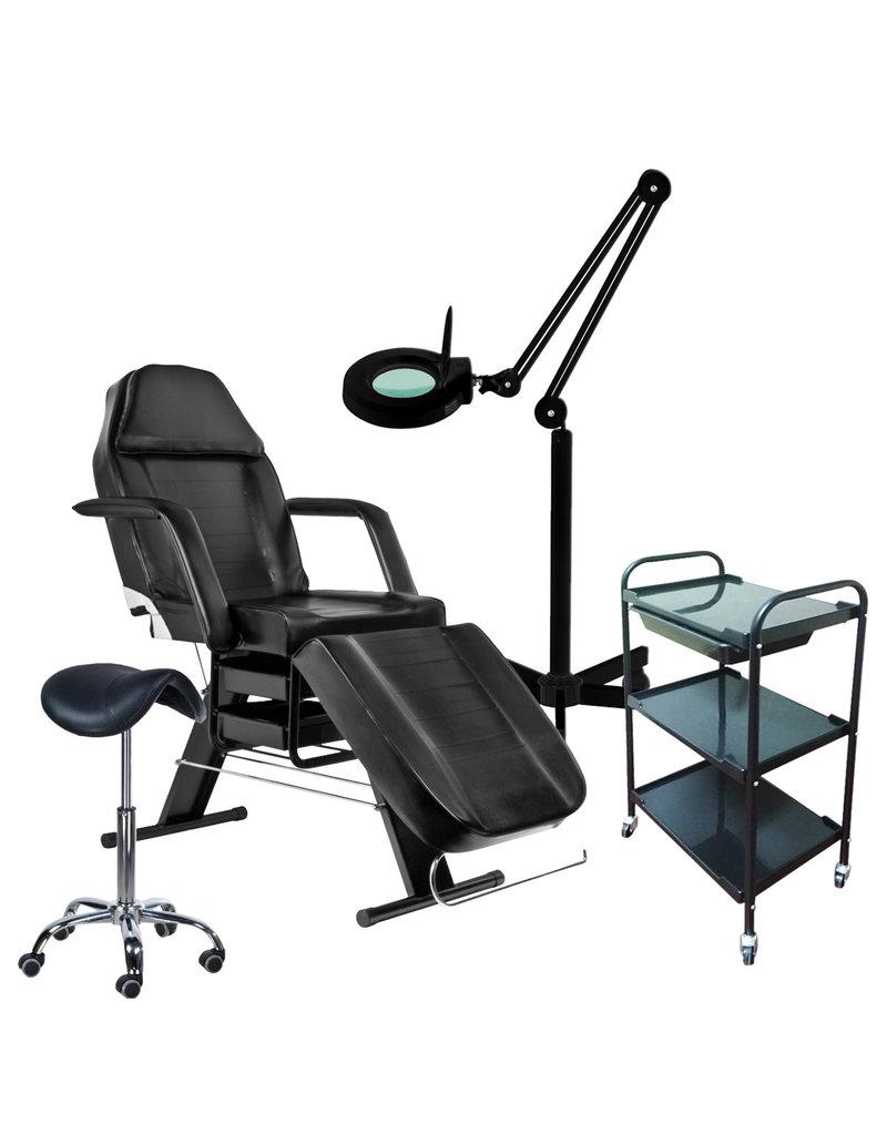 Mega Beauty Shop® 57. Starter set ZWART met GRATIS behandelstoelhoes