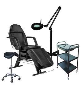 Mega Beauty Shop® 58. Starter set ZWART met GRATIS behandelstoelhoes