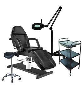 Mega Beauty Shop® 59. Starter set ZWART met GRATIS behandelstoelhoes