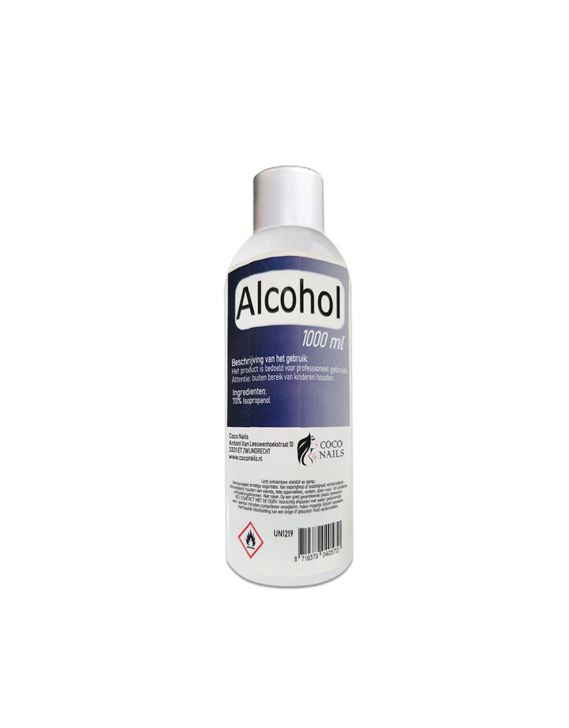 Coconails Alcohol 70% 1000 ml/Desinfectiemiddel