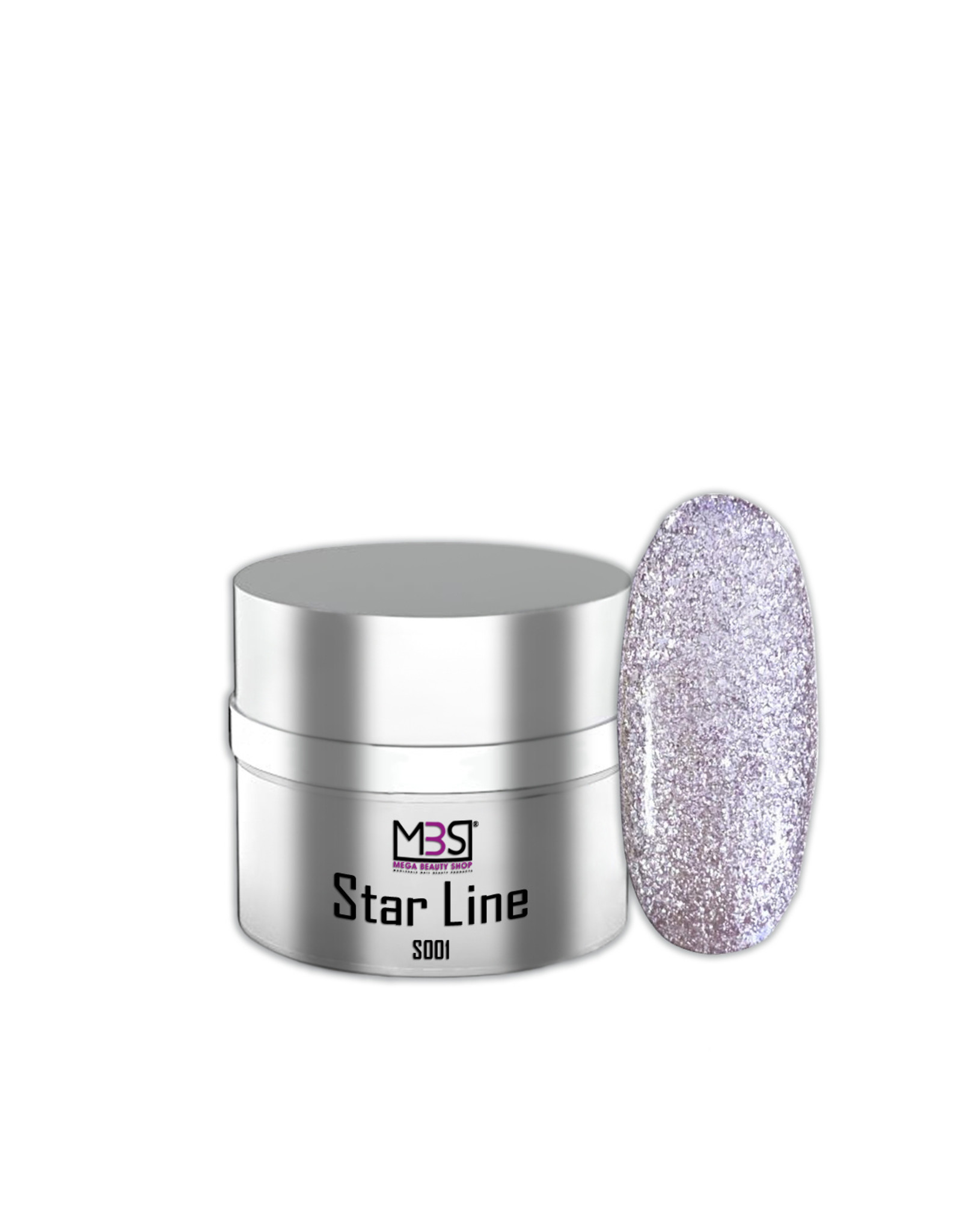 Mega Beauty Shop® Color gel Glitter  UV/LED  (S001)
