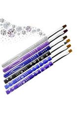 Mega Beauty Shop® Gel-Penseel Zwart nr. 8 met steentjes