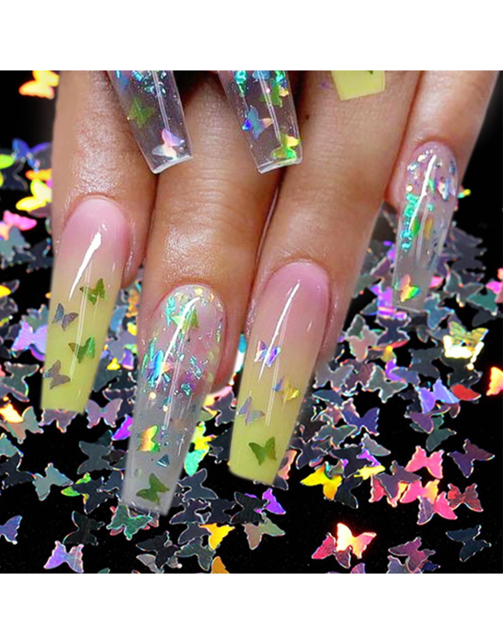 Mega Beauty Shop® Vlinders met een holografische shine (01)