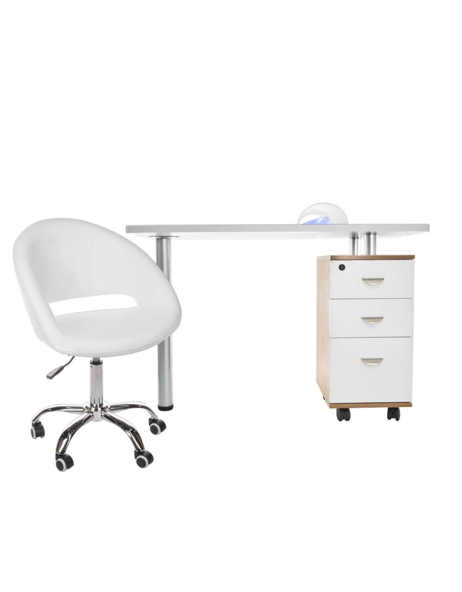 Mega Beauty Shop® Manicuretafel + Werkstoel + SUN5 UV/LED lamp GRATIS!  (01)