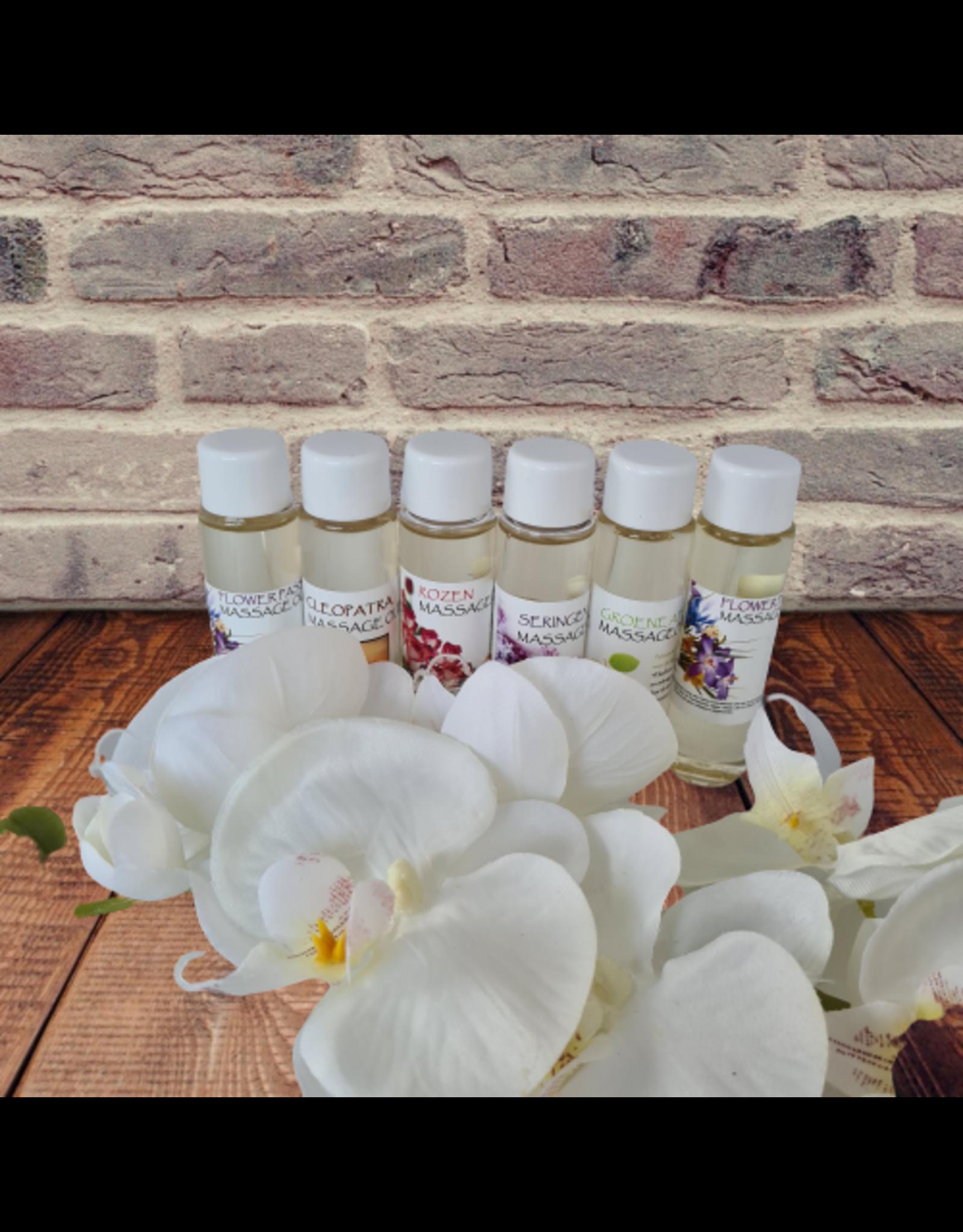 DeOliebaron Doosje a 6 x 30 ml flesjes massage olie (Diverse geuren)