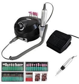 Beautylushh Nagelfrees zwart- 65Watt- tot 35.000toeren- 166 delig-Elektrische Vijl/Beautylushh