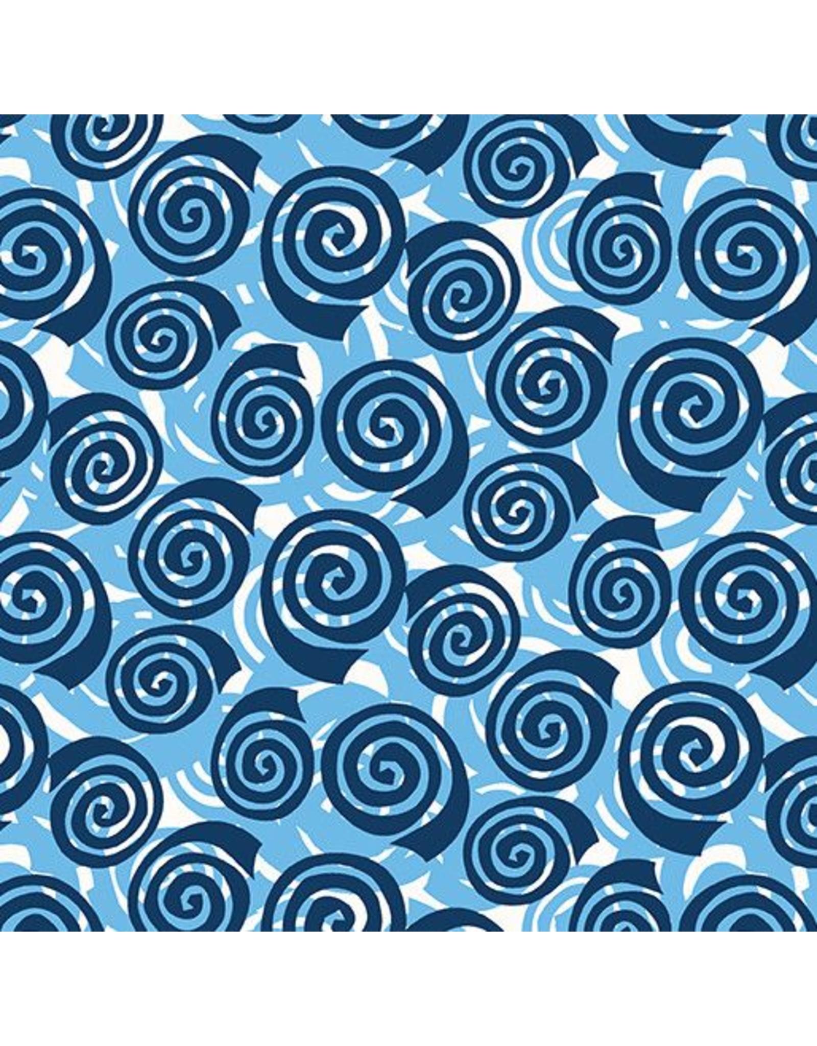 Contempo Abstract Garden - Blooming Roses Blue