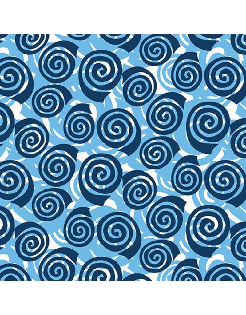 Contempo Abstract Garden - Blooming Roses Blue