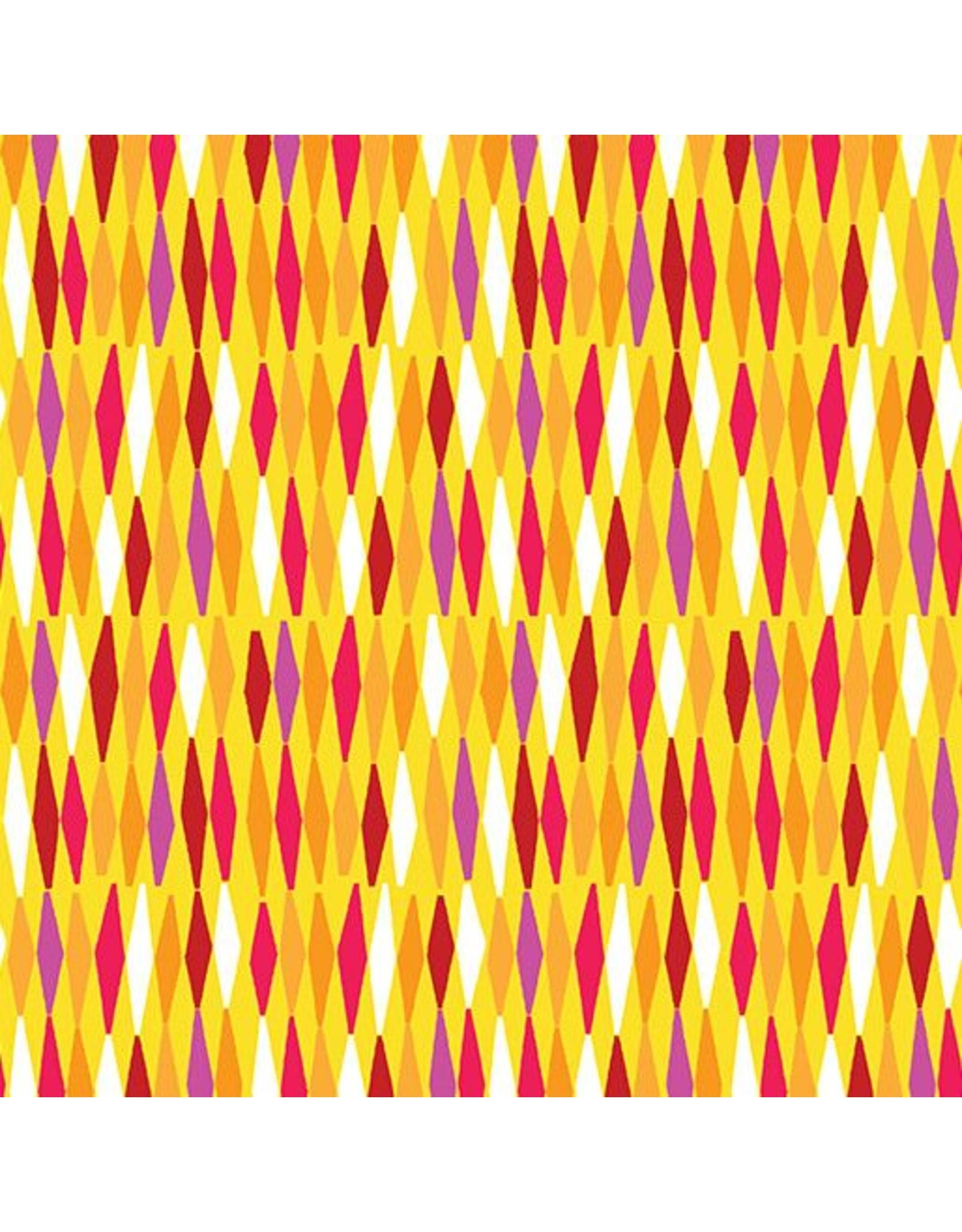 Contempo Abstract Garden - Picket Fences Mustard