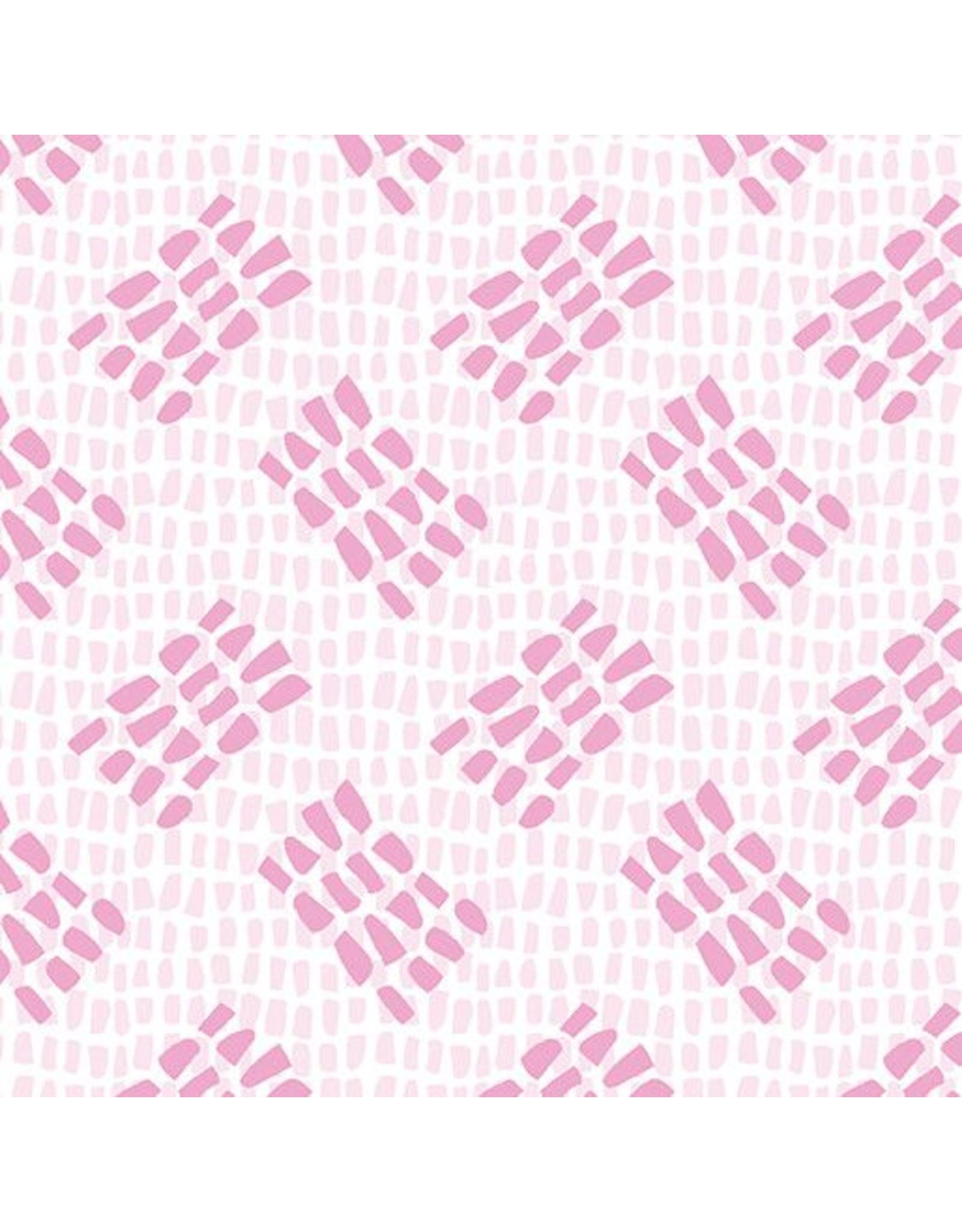 Contempo Abstract Garden - Tracks Light Pink