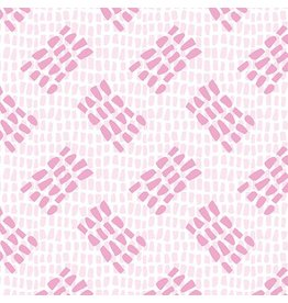 Contempo Abstract Garden - Tracks Light Pink