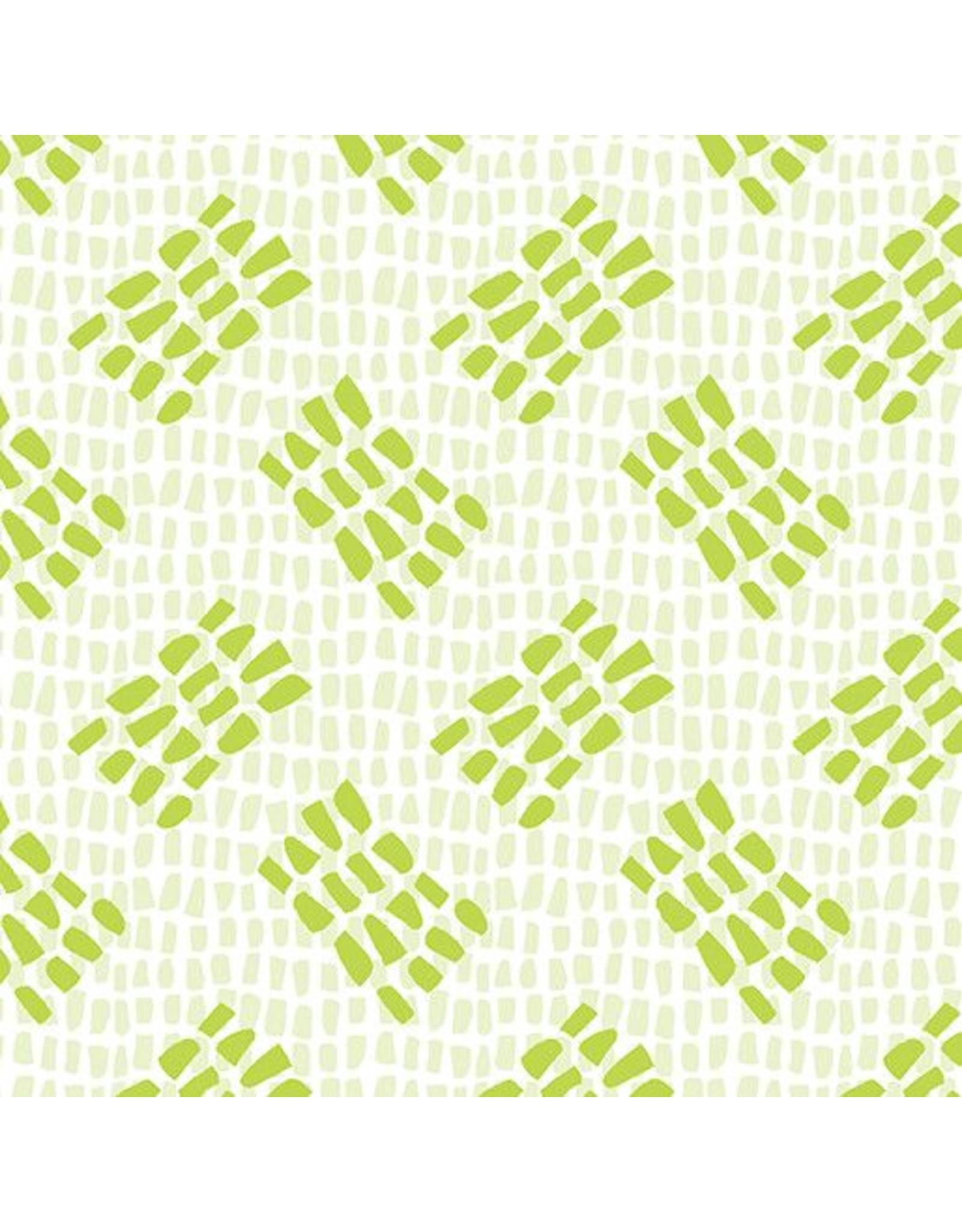 Contempo Abstract Garden - Tracks Light Green