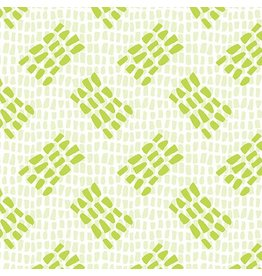Contempo Abstract Garden - Tracks Light Green