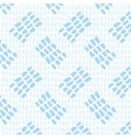Contempo Abstract Garden - Tracks Light Blue