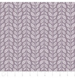 Camelot Josephine - Tonal Leaves in Dark Lilac Grey