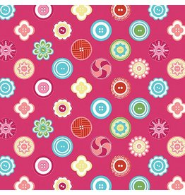 Contempo My Happy Place - Squared Buttons Fuchsia