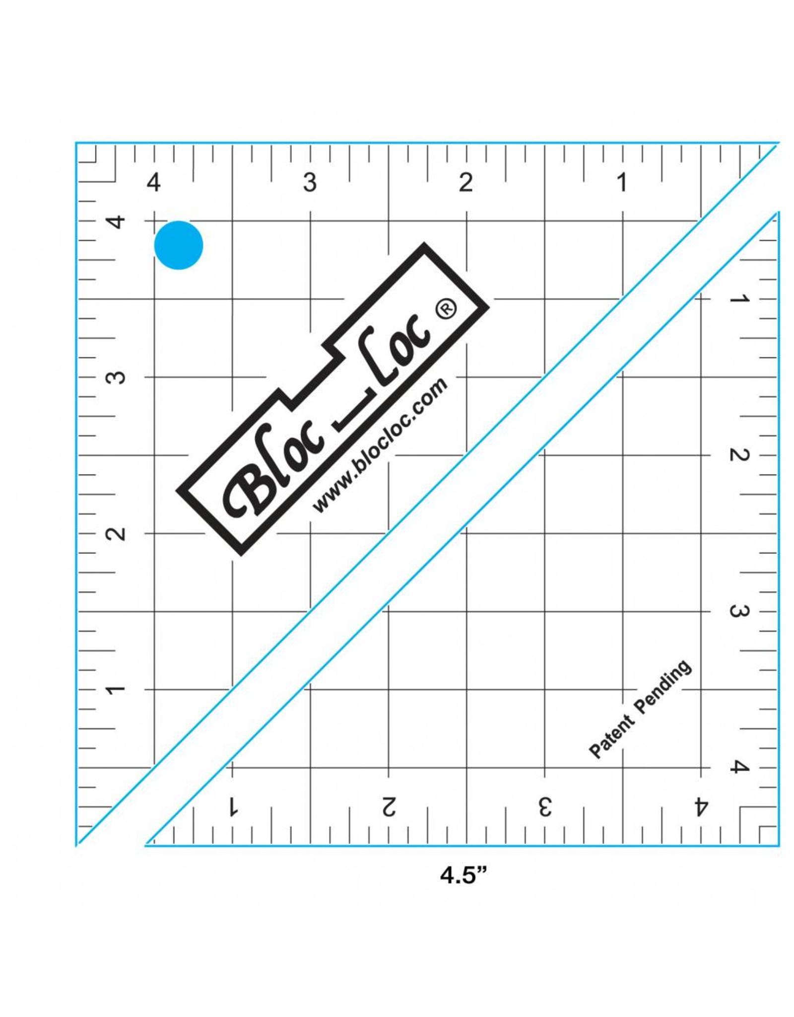 Bloc Loc Half Square Triangle Ruler - 4,5 x 4,5 inch