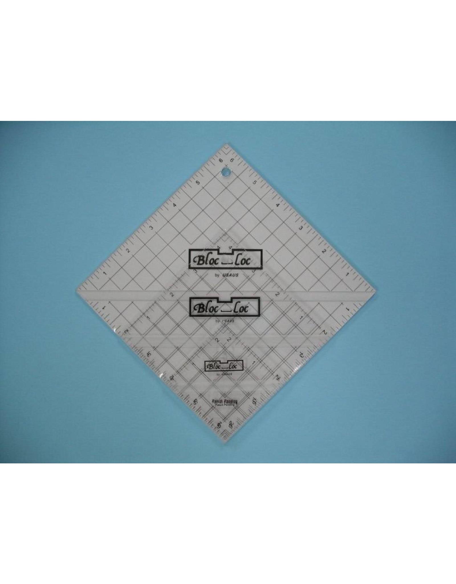 Bloc Loc Half Square Triangle Ruler Set - 2,5 - 4,5 - 6,5 inch